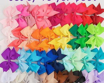 Girls bows, 3.5 inch hair bows, toddler christmas gift, Cheap bows, bow clips, little girl bows, bow set, lot of bows, baby bows, dollar bow
