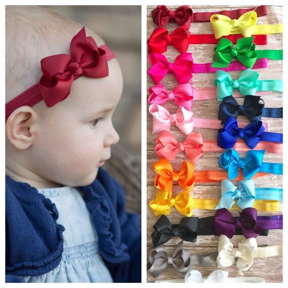 3 Inch baby Headbands small baby headbands ribbon headbands  3357d990f67