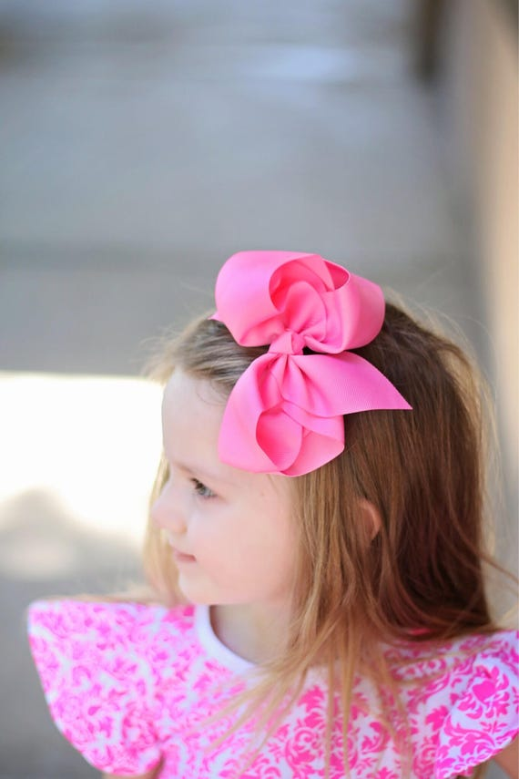 6 Inch Bows Pick 5 20 Colors Hair Bows Girls Bows Bows Etsy