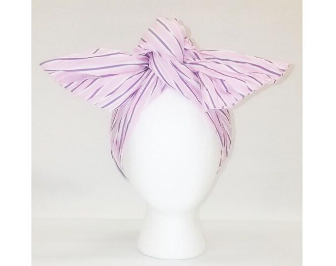 Sheila Moldable Headband-PURPLE PINK SEERSUCKER