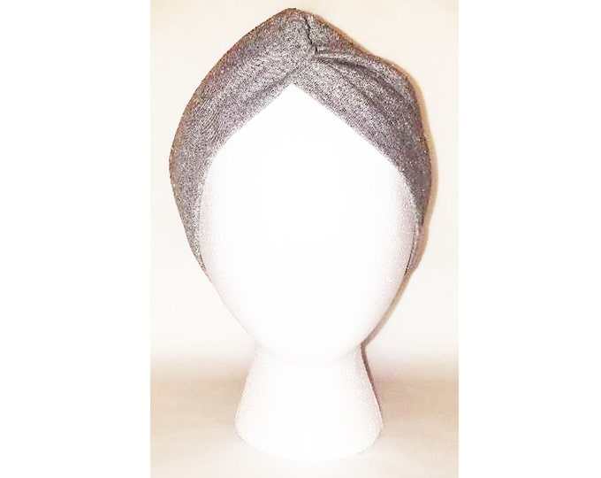Wanda Gray Speckle Print Jersey Turban (Price Varies From Adult to Baby)