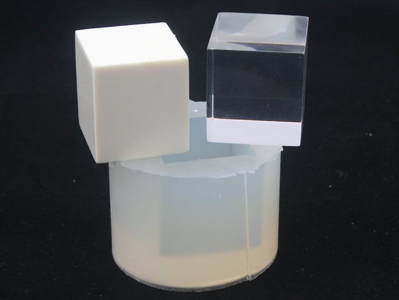 a cube mold of 20 mm A transparent silicone mold for jewellery DIY 1 piece