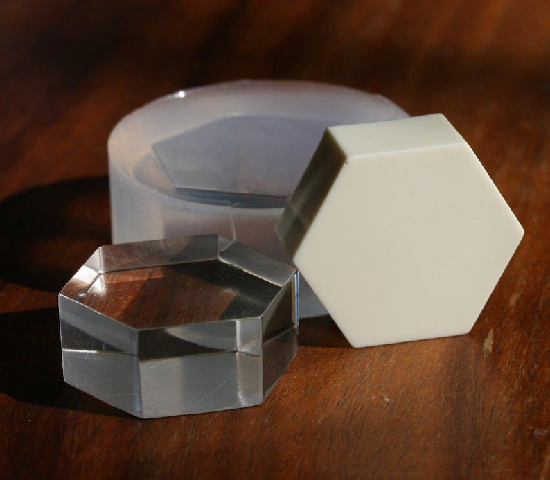 regular hexagon  30mm A transparent silicone mold for jewellery Diy