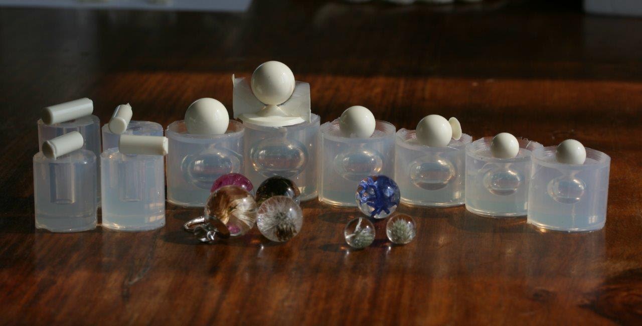 Un moule en en en silicone transparent pour bijoux bricolage, rouleaux - 2 x 7/ 16mm, rouleaux - 2 x 7/ 22mm de taille, sphère de 2 x 11mm, sphère de 2 x 14mm, 2 x17mm sphère 1eb4f3