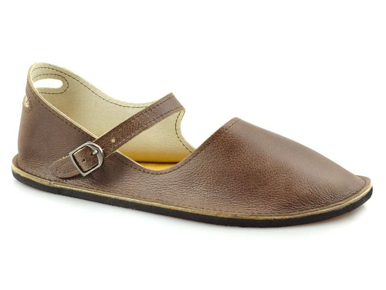 90e0ec51d1f1 Brown Mary Jane Flats Handmade Leather Shoes Minimalist