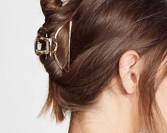 Silver or Gold Metal Hair Claw, Women Hair Clip, Metal Hair Clip, Hair Claws, Hair Clasp, Adult Hair Accessories, Girlfriend Gifts