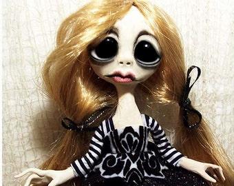 OOAK Gothic Art Doll - Creepy Cute