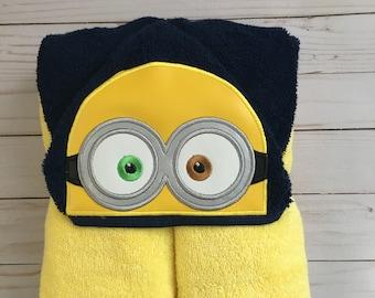 RedRockCraftsWy Minions Minion Girl Hooded Towel Towel Childrens Hooded Towel Hooded Towel Personalized Towel Girl Minion