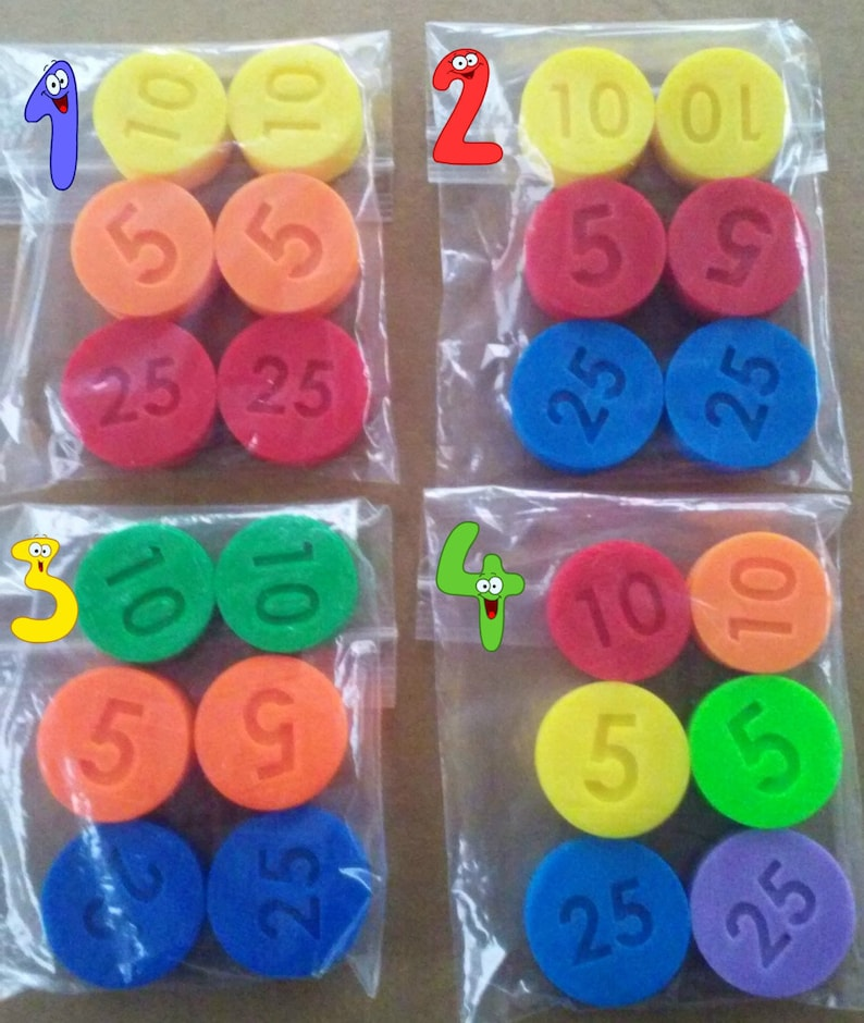 da491b93fb47 LOT 6 Replacement Coins Fisher Price compatible Cash Register
