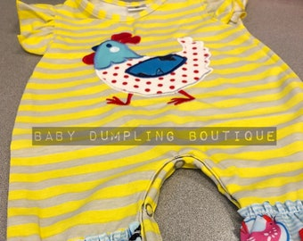Little Girls Boutique Chicken Farm Romper