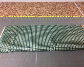 no. 1024 Green mini plaids Fabric by the yard