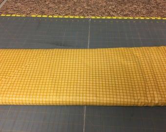 no. 1025 Gold mini plaids Fabric by the yard