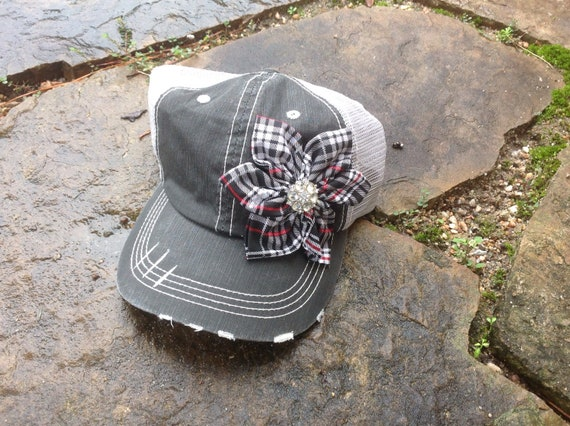 5357ca28f74 Plaid Holiday Trucker Hat