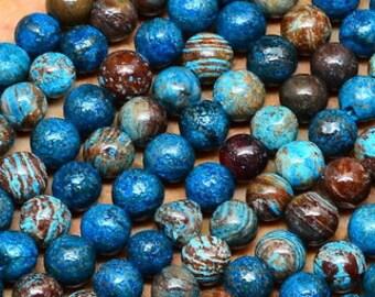 4mm  Rainbow Calsilica  Gemstone Round Beads   Full Strand