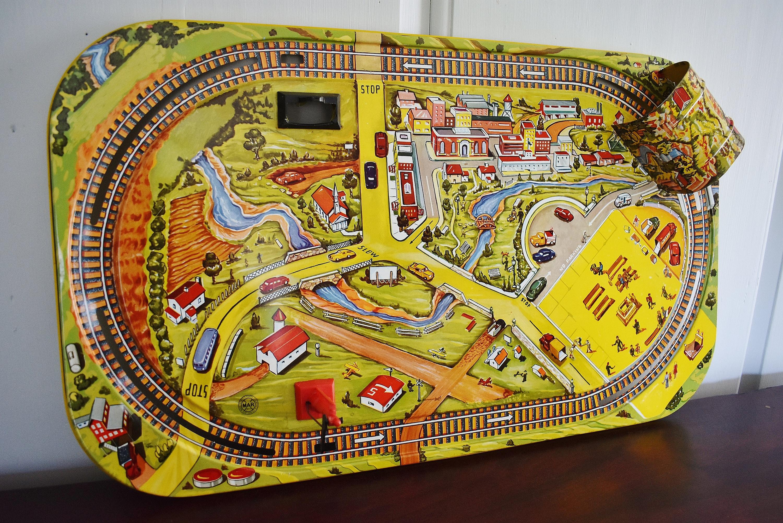 Marx Toys Tin Litho Train Base Scenic Express Layout Suburban | Etsy