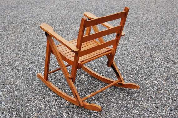 Sensational Childs Folding Rocking Chair Nevco Childs Oak Rocking Chair Toddler Rocker Wood Slat Chair Lawn Lodge Camp Furniture Onthecornerstone Fun Painted Chair Ideas Images Onthecornerstoneorg