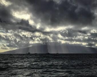 Cloudy Lahaina Print