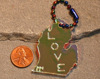 Michigan Love Radiant Acrylic Keychain