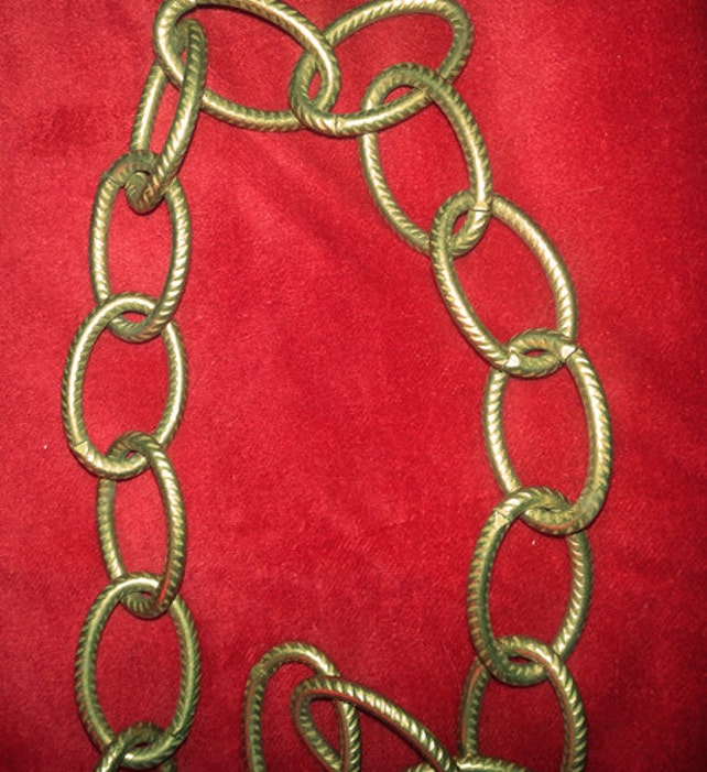 18 vintage chandelier chain antique brass finish from etsy image 0 aloadofball Choice Image