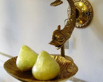 Vintage Brass SOAP DISH ~ Fish Design ~ Vanity Home Decor ~ Home & Living ~ Bathroom Accessories