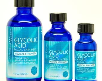 GLYCOLIC ACID Chemical Peel Kit- Anti Aging- Anti Wrinkle Serum - Repair Acne Scars, Brightens / Lightens Skin- Medical Grade - 100% Pure