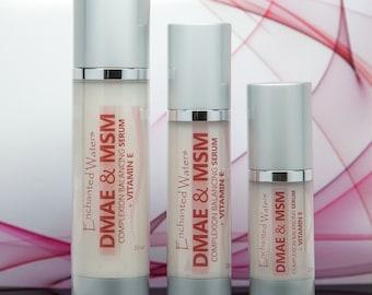 DMAE & MSM SERUM - Natural Organic Skin Firming Anti Aging - Anti Wrinkle Skin Care Cream - Stunning Results! - Free U.S. Shipping