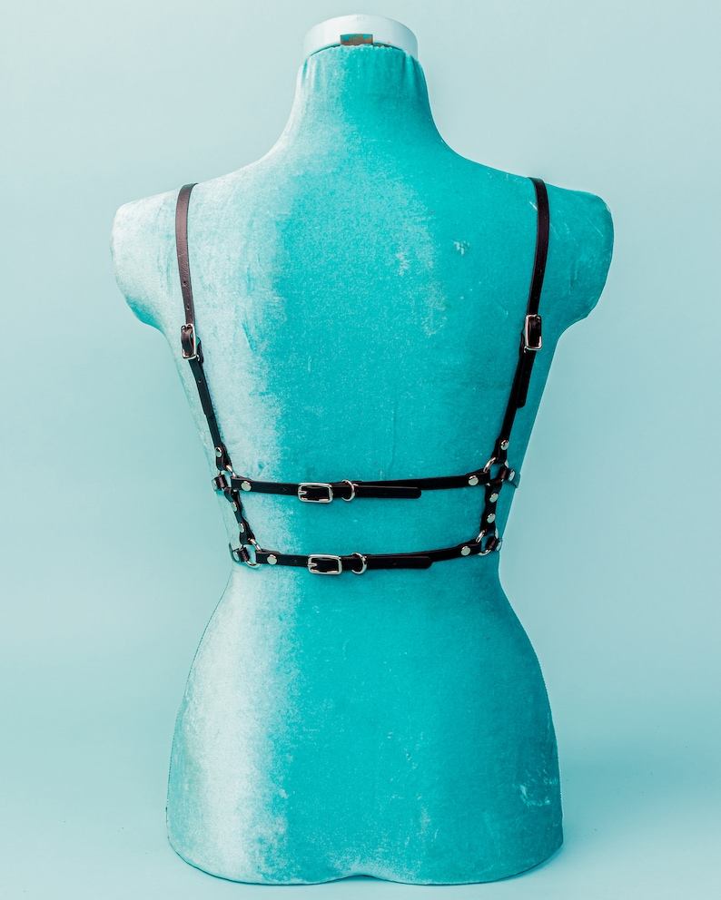 Vegan Leather Bralette Harness