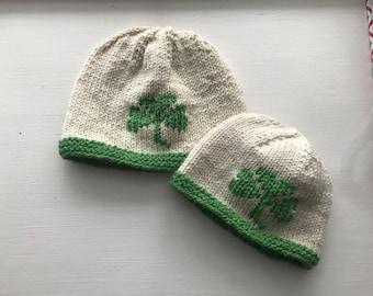 Hand-Knit Shamrock Hat