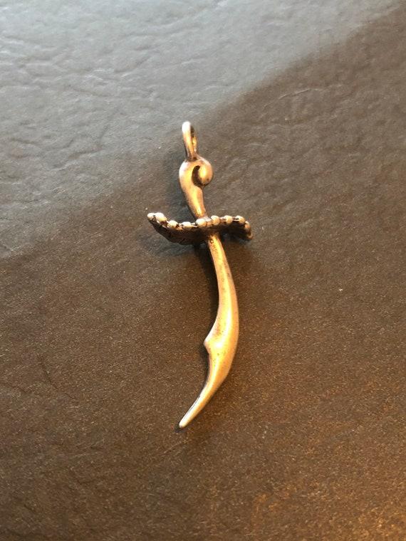 Vintage Sterling Sword Charm