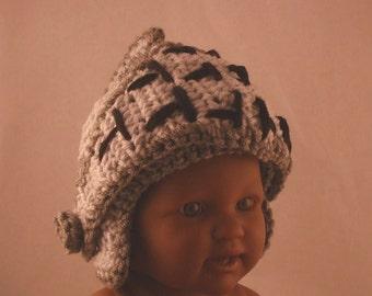 Knight Helmet with Hinged Visor - Crochet -  Infant/toddler Size
