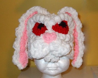 Angry White Rabbit - Easter Bunny Hat - Crochet