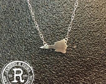 SR-71 Blackbird Silhouette Necklace (Sterling)