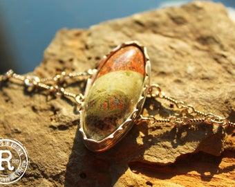 Handmade Virginia Gneiss Bracelet (Sterling Silver)