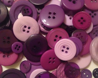 60 Assorted BUTTONS Pink Yellow Lilac Crafting Sewing Card Making Paisley Mixed
