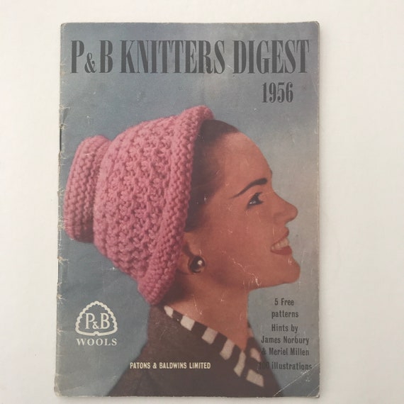 Vintage Knitting Patterns Patons And Baldwins Kniters Digest Etsy