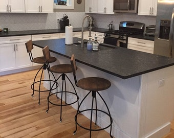 Swivel Counter Stool Bar Stools With Backs Adjustable Bar Etsy