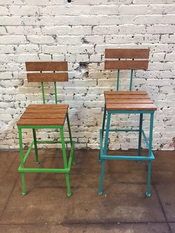 Fine Reclaimed Wood Bar Stools Metal Bar Stools Industrial Bar Stool Rustic Bar Stools Rustic Furniture Bralicious Painted Fabric Chair Ideas Braliciousco