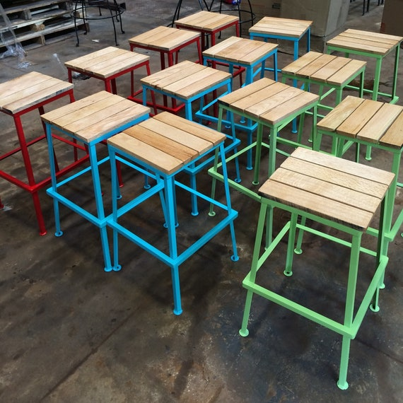 Wondrous Kitchen Stool Counter Stool Rustic Painted Bar Stools Counter Stools Bar Stools Pdpeps Interior Chair Design Pdpepsorg