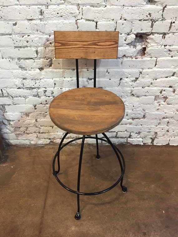 Kitchen Bar stools, Swivel Bar Stools - Steel & Wood Counter Breakfast Bar  Stools with Backs, Best Seller