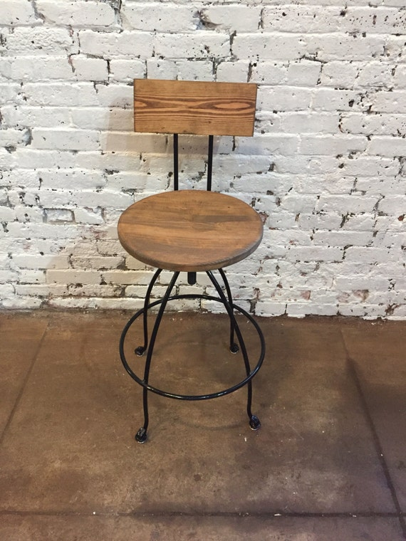 Groovy Commercial Swivel Bar Stool With Back Wood Iron Counter Bar Stool Handcrafted Swivel Stool Counter Height Stool Ocoug Best Dining Table And Chair Ideas Images Ocougorg