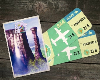 Up Movie Airline Tickets and Postcard