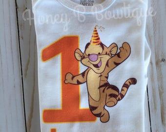 1084deb5e Baby Tigger First Birthday Onesie, Baby Tigger First Birthday Tee, Tigger  Birthday shirt, Tigger Onesie, Tigger Birthday