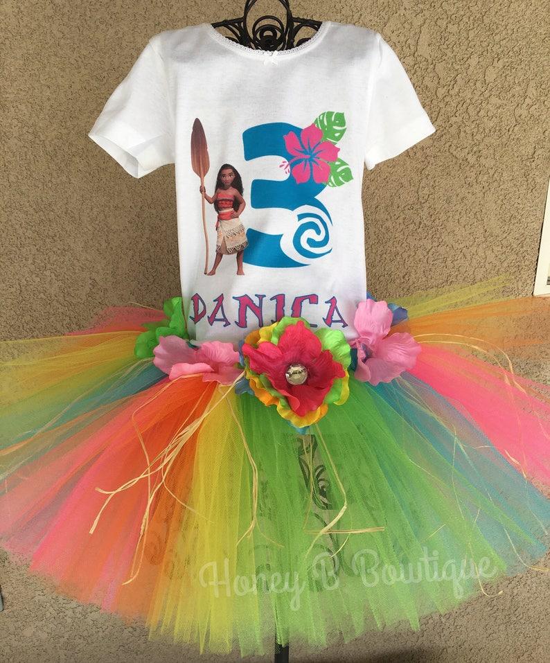 15a1c0802 Moana Tutu Outfit Moana Birthday Tutu Moana Shirt Moana | Etsy