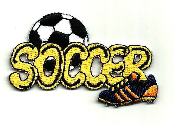 Brown Soccer Football Score Embroidery Patch