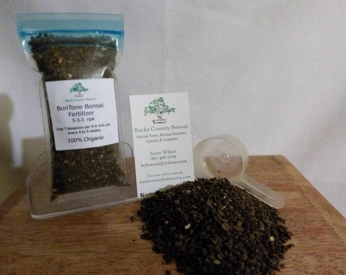 4 oz. Bonsai Fertilizer, Bontone, Organic Bonsai Fertilizer, Slow Release Fertilizer