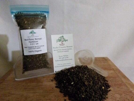 4 Oz Bonsai Fertilizer Bontone Organic Bonsai Fertilizer Etsy