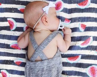 Baby girl Watermelon Muslin Swaddle Blanket, Baby girl Gauze Swaddle Blanket, Summer swaddle, Watermelon swaddle, tropical swaddle