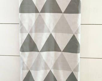 Gray Triangle Baby Blanket, Neutral Boppy Cover, Gray Baby Blanket, Neutral Baby Blanket, Baby Bedding, Gray Boppy cover, Nursing Pillow