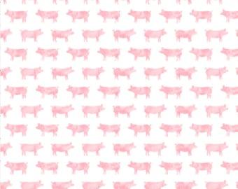 Pig Baby Swaddle, Pink Piggie, Piglet, Farm Muslin Swaddle Blanket, Gauze Swaddle Blanket, baby girl