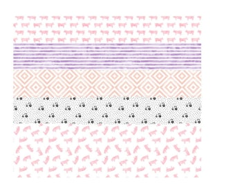 Farm, cowgirl, pig, tractor baby girl blanket, baby quilt, Whole Cloth Quilt, Pink, Purple, Gray